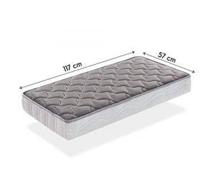 SleepAA Colchon de cuna 120x60 fibra de coco y muelles Fabricado en España (117x57 cm) 1