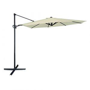 Aktive Garden 53893 - Parasol Excéntrico Roma Diámetro 300 cm, Mástil de Aluminio con Diámetro 48 mm, Crema 1