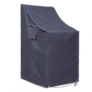 SONGMICS 600D Oxford Funda para Muebles Cubierta para sillas de jardín Resistente al Agua Proteger del Viento y de Rayos UV GFC95G 1
