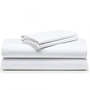 The White Basics - Cadaques - Juego de Sabanas Blancas Percal 200 Hilos 100% Algodon Peinado Cama Doble 150x200 cm. 6