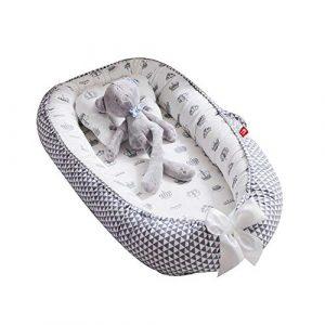Womdee - Tumbona para bebé, Nido Transpirable para recién Nacido, Funda extraíble con algodón orgánico Supersuave, Idea para recién Nacidos para Cosleeping 1