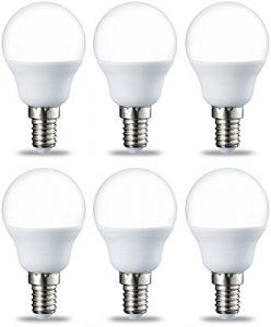 AmazonBasics Bombilla LED E14, P45, 5.5W (equivalente a 40W), Blanco Cálido- 6 unidades 4