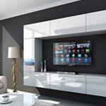 HomeDirectLTD Future 29, Conjunto de Muebles De Salón, Módulo Bajo para TV Y Multimedia, Unidad de Entretenimiento, Mueble TV, Suite a Estrenar (Iluminación RGB LED Opcional) (29_HG_W_2, Azul LED) 17