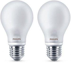 Philips Bombilla LED esférica E27, 6,7 W equivalentes a 60 W en incandescencia, 806 lúmenes, luz blanca cálida 10