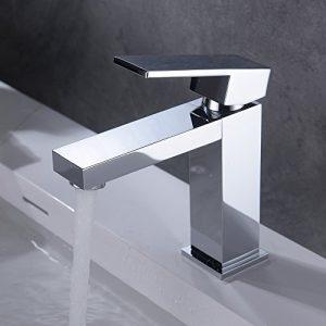 HOMELODY Grifo de Lavabo con Mangueras Agua Fría y Caliente Ajustable Aireador Desmontable Moderno para Cuarto de Baño Cocina 7