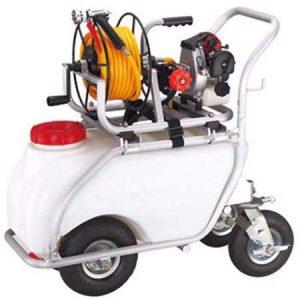 Carretilla fumigadora 50L. Motor 2 tiempos 30bar 10ltr. 2 pistones de acero con cabezas cerámicas. 7
