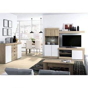 Mobelcenter - Mueble Salón Logan 005-215 x 39,8 x 170,5 cm- Blanco y Cambrian (0564) 2
