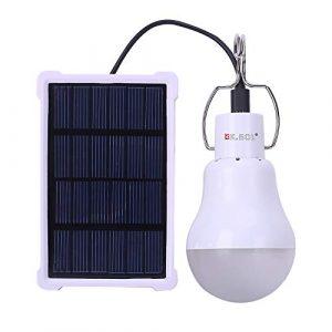 KK. BOL solar lámpara LED Bombilla portátil luz de emergencia Dentro de Al aire libre camping 150LM 1600 mAh 3
