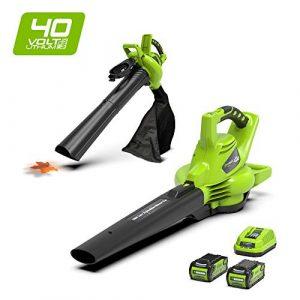 Greenworks Soplador / Aspirador / Triturador de hojas inalámbrico de 40V Li-Ion con 2 baterías de 2Ah y cargador - 24227UC 3