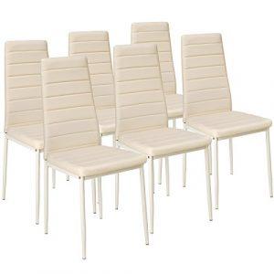 TecTake Set de sillas de Comedor 41x45x98,5cm cantidades - (6X Beige | No. 401852) 9