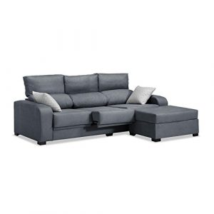 Mueble Sofa con Chaise Longue 3 plazas color gris marengo cheslong chaiselongue ref-55 SUBIDA A DOMICILIO 5