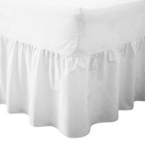 Lujoso cubrecanapé de percal de 180 hilos, no necesita planchado,  para cama individual, tamaños doble, king y estándar., Blanco, Doublé 3