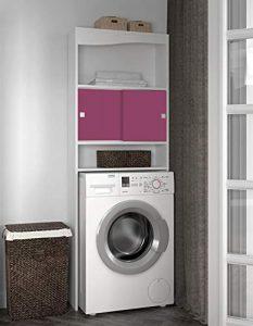 Symbiosis 6090A2136A17 - Estantería para baño, color blanco y rosa 9
