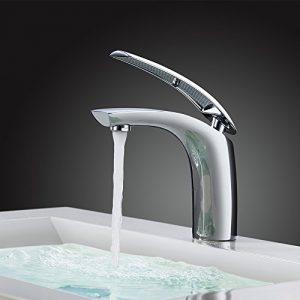 HOMELODY Grifo lavabo Cobre Grifo del Baño Monomando Lavabo Grifo del Lavabo Grifo de la Cuenca Grifería Lavabo Grifería Baño 6