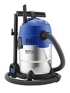 Nilfisk Buddy II 18 INOX Aspirador de Bricolaje, 18 litros, 74 Decibelios, Azul/Gris 10