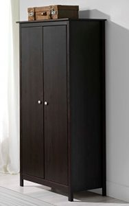 TABAC Armario 2 Puertas de Madera Maciza, Color Wengue 177.6x82x50.5 1