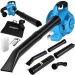 Monzana® aspirador soplador | 3 en 1 | Gasolina | 26 ccm, bolsa 45L, incluye juego de herramientas con vela Llave + Cruz atornillador | soplador de hojas 17