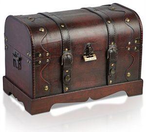 Brynnberg - Caja de Madera Cofre del Tesoro Pirata de Estilo Vintage, Hecha a Mano, Diseño Retro 40x23x27cm 6