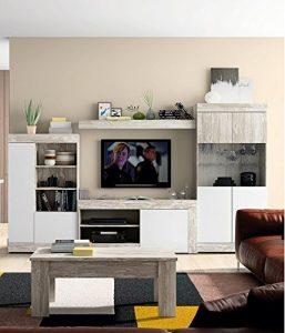 Mobelcenter - Mueble Salón Logan 004 - Blanco y Vintage - 295 x 39,8 x 170,5 cm (0812) + Envío Gratis 4