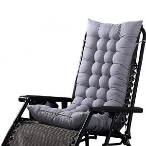 LeKing Cojín para Tumbona de Exterior para Patio, jardín, cojín de Repuesto para Silla reclinable Gruesa con Correas elásticas de 125 x 45 x 8 cm 6