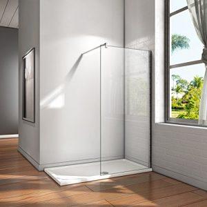 50x200cm Mampara ducha Panel Pantalla Fija cristal 8mm templado para baño 1