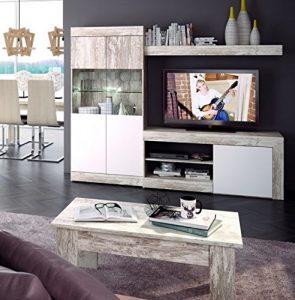 Mobelcenter - Mueble Salón Logan 005-215 x 39,8 x 170,5 Blanco y Vintage (0773) 3