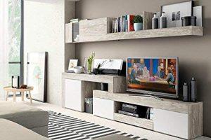 Mobelcenter - Mueble Salón Logan 003 - Blanco y Vintage - 270x39x77 (0799) 5