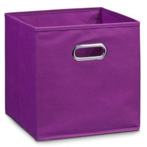 Zeller 14135 - Caja de almacenaje de tela, plegable, 28 x 28 x 28 cm, color morado 1