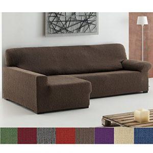 Jarrous Funda Chaise Longue Elástica Modelo Buda, Color Negro, Medida Brazo Izquierdo - 240-280cm (Mirándolo de Frente) 4