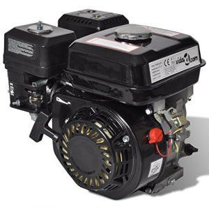 Festnight 6,5 HP 4,8 kW Motor de Gasolina con Arranque Eléctrico Color Negro 2