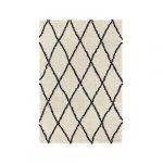 ASMA Tapis de salon Shaggy - Style berbere - 150 x 220 cm - Beige creme - Poils longs 17
