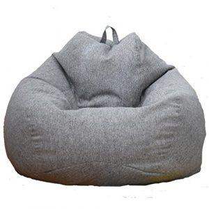 LOVIVER Cubierta de Sofá Funda de Silla de Puff Bean Bag Color Sólido Cierre de Cremallera Extralarga para Hogar Oficina - Gris, 60x75cm 7