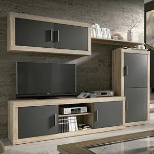 HomeSouth - Mueble de Comedor, Salon Modelo Ambar, Acabado Color Cambria y Grafito, Medidas: 248 cm de Ancho 1