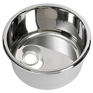 Fregadero inoxidable redondo diámetro mm 260x 290x 180H Cocina Baño Camper Barco 5