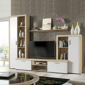 HomeSouth - Mueble de Comedor, Salon Modelo Nobel, Acabado Color Cambria y Blanco, Medidas: 263 x 202 x 40 cm Fondo. 4