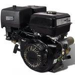 15 HP 9,6 kW Motor de gasolina con arranque eléctrico, Negro 15