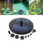 Motto.h Bomba De Fuente Solar con Panel Solar LED Impermeable Flotante Pulverizador De Agua Flotante 1.6W para Jardín Patio Estanque De Pájaros Piscina Y Estanque (sin Batería) Tremendous 12