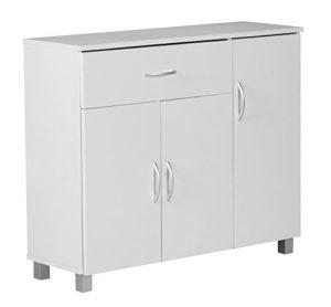 Wohnling WL1, 334 cómoda 90 x 75 cm con 3 puertas y 1 cajón, blanco 7