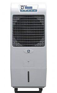 Climatizador Evaporativo MCONFORT Eolus 35. Potencia 150W. Cobertura 45m². Máximo Caudal 3500m³/h. 3 Velocidades. Ventilador Axial. Mando a Distancia. Temporizador. Depósito 45L. Pantalla Táctil Led 5