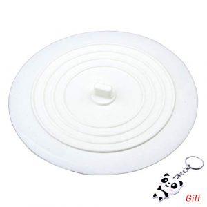 ruix Tapón de drenaje, silicona tapón de bañera tapón de drenaje de color blanco para cocinas, baños y Lavanderías, 6pulgadas 3