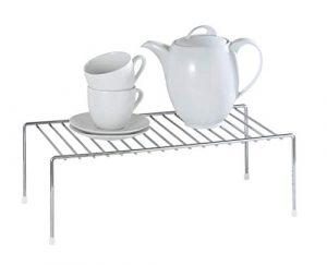 WENKO 2342100 Estante de cocina para vajilla, Metal cromado, 42.5 x 15 x 22 cm, Plata brillante 1