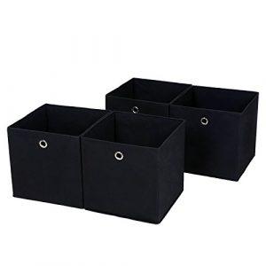 SONGMICS Juego de 4 Cajas de Almacenaje, Cubos de Tela Plegable, 30 x 30 x 30 cm, Nergo RFB02H-2 7
