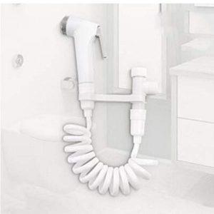 Oulensy Portátiles de plástico ABS grifos bidé Pistola de pulverización con Accesorios de baño WC Enjuague sobrealimentado bidé Handheld Lavadora Bidet 2