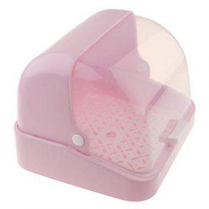 F Fityle 1 pc Contenedor de Chupetes para Vajilla de Bebés Organizador de Platos Cuencos - Rosa 10
