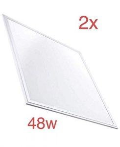 (LA) 2x Panel LED 60x60cm, 48w, 4000 lumenes Reales, Blanco Frio (6500K). Driver Incluido. 5