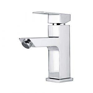 Homelody - Grifo Monomando Agua Fría y Caliente con Aireador sin Salpicar Color Plateado Ahorro del Agua para Cuarto de Baño 3
