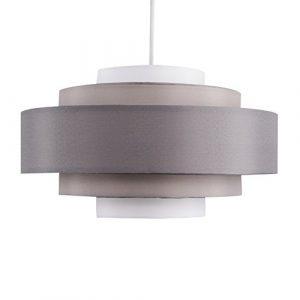 MiniSun - Pantalla para lámpara de techo moderna 'Hampshire' - Con 5 niveles y tonos de gris 8