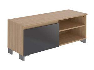 Marca Amazon -Movian Ba-se Contemporary - Mueble para TV de 1 puerta con 1 balda, 39,8 x 110 x 43,7 cm (gris) 5