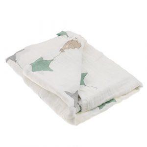 JER 1pcs Manta De Muselina De Algodón Manta De Bbebé Recién Nacido Baño De Envolver Una Toalla 2triangle Estrellas, 11cm 8