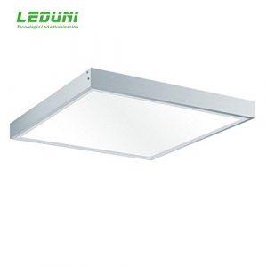 LEDUNI Kit Marco de superficie de Panel 60×60 Blanco Marco Panel LED Empotrable Kit de Superficie Panel 60X60 Marco de Montaje Superficie Borde Blanco 6